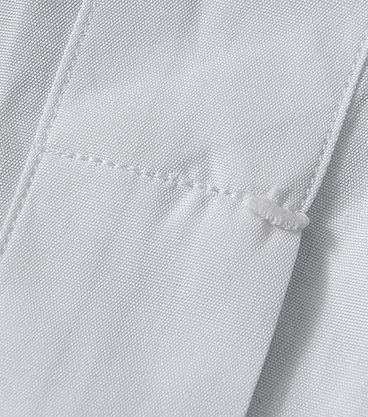 <p>剣ボロ部分には手縫いによるカンヌキ留めが施され、強度をアップさせている。</p>