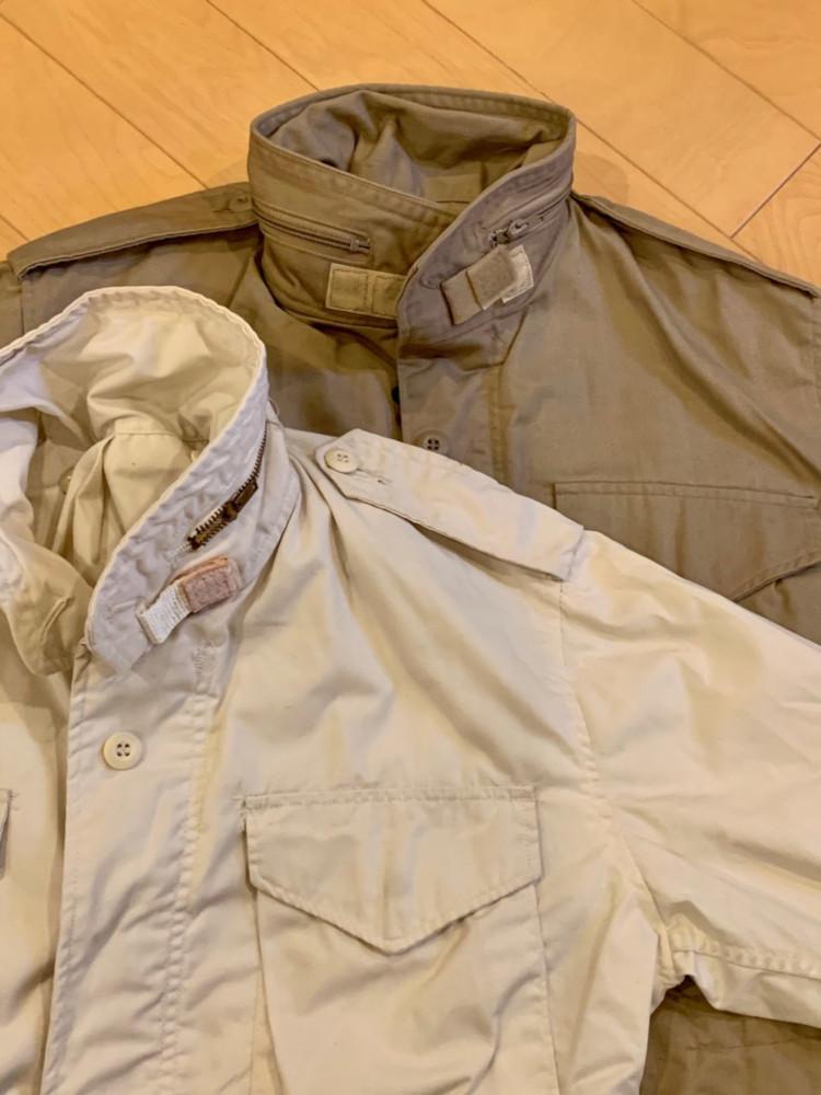 <p>ベージュやオフホワイトなどのカラーものは軍に納入していたメーカーが民生品(ファッションアイテム)として作っていたもので、当時はワインレッドやネイビーやブラックもあった。</p>