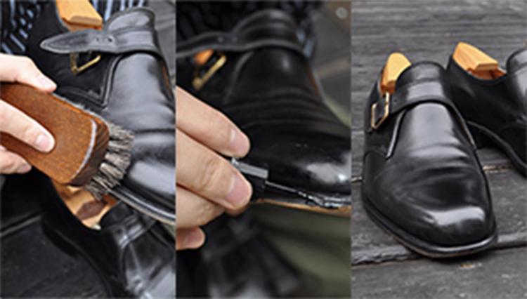 ドレス靴のメンテ