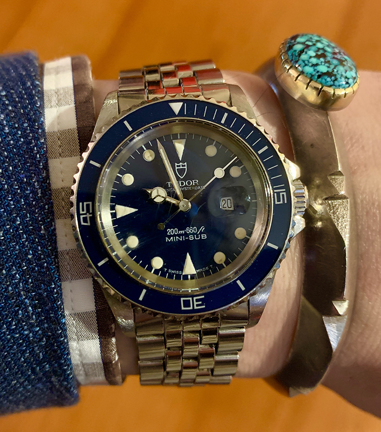 <p><strong>SHIPS 銀座店 店長 市田康博さんの愛用時計<br /> チューダー/MINI SUB PRINCE OYSTERDATE Ref.73090</strong></p>