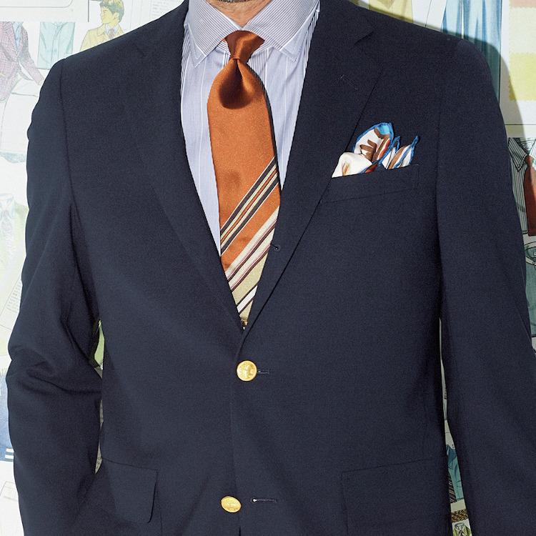 40代メンズに似合う「紺ブレ」の着方とは【1分で出来るスーツのお洒落】