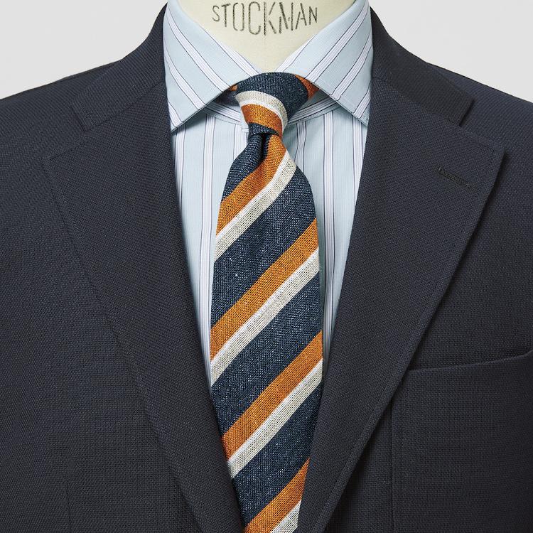 「麻ネクタイ」はビジネスマンの夏の必需品【1分で出来るスーツのお洒落】