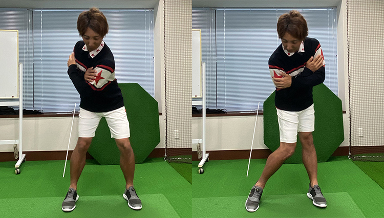 おうちでゴルフ上達! vol.4「クラブを持たずに上半身の動きを習得」