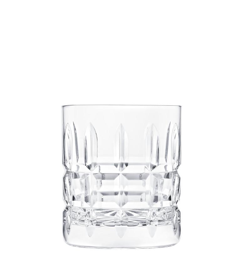 <p>ゆっくりと時間をかけてお酒を愉しみたい人に向くダブルサイズのロックグラス。H100㎜×∅84㎜。330ml。1万9000円。</p>