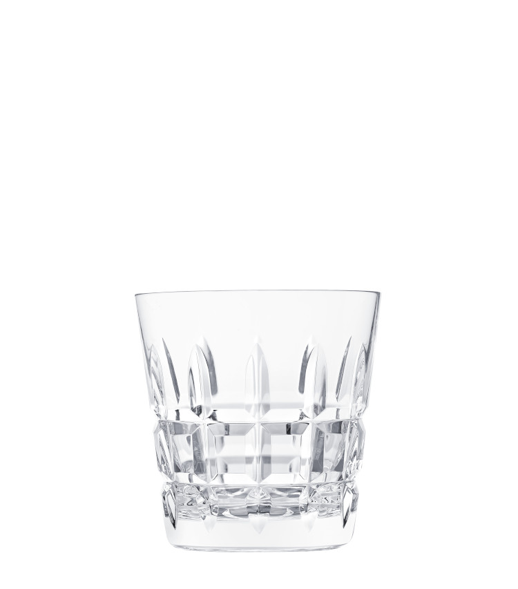 """<p>ロックグラスとしてはもちろん、""""オールドファッション""""のようなウイスキーベースのカクテルも似合うグラス。H90㎜×∅87㎜。250ml。1万7000円。</p>"""