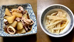 日本酒と絶妙マリアージュ!「麦イカ大根&大根の皮の漬物」