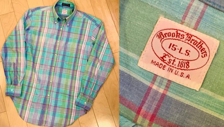 懐かしの柄! ブルックス ブラザーズのマドラスチェックBDシャツ