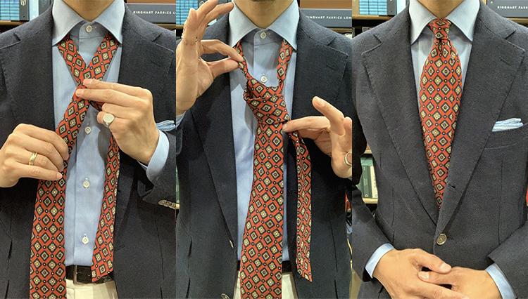 【動画で解説】「セッテピエゲ」のネクタイ、どうやったら上手く結べる?