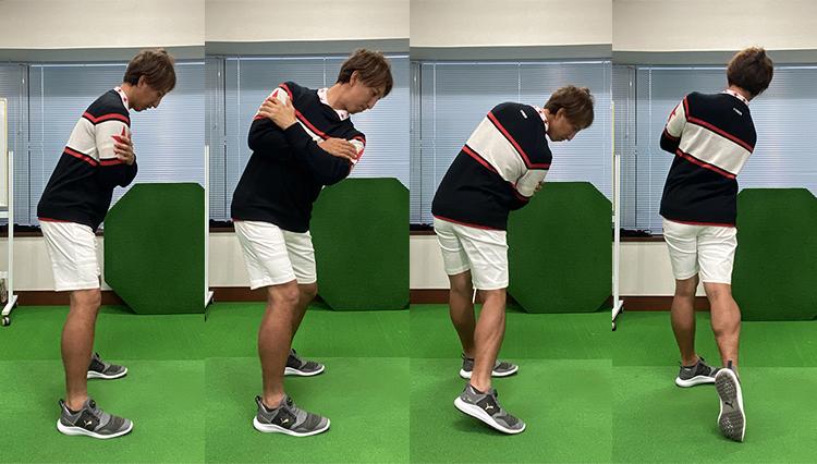 週末自宅ゴルフ練!「上半身の正しいボディモーション」を連続写真でチェック!
