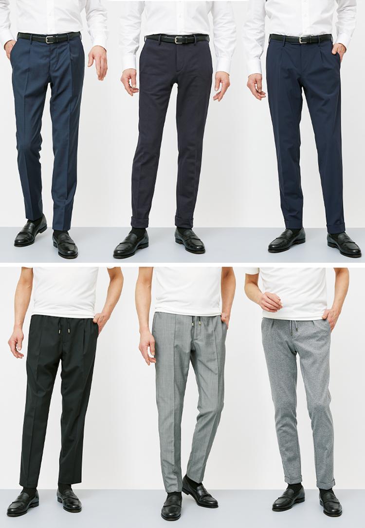 6大専業ブランドの機能派美脚パンツ