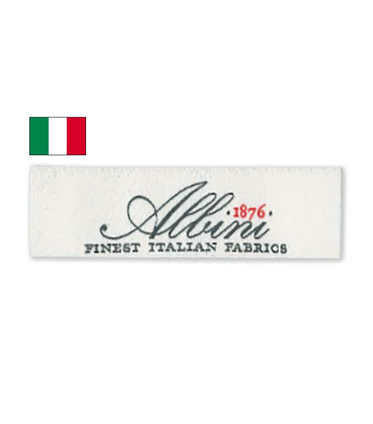 <p><strong>ALBINI / アルビニ</strong><br /> 1876年創業。世界屈指の規模を誇り、数々の有名生地ブランドを傘下に置いている。近代化された設備による安定した高品質に定評があり、多くのシャツブランドが採用。</p>