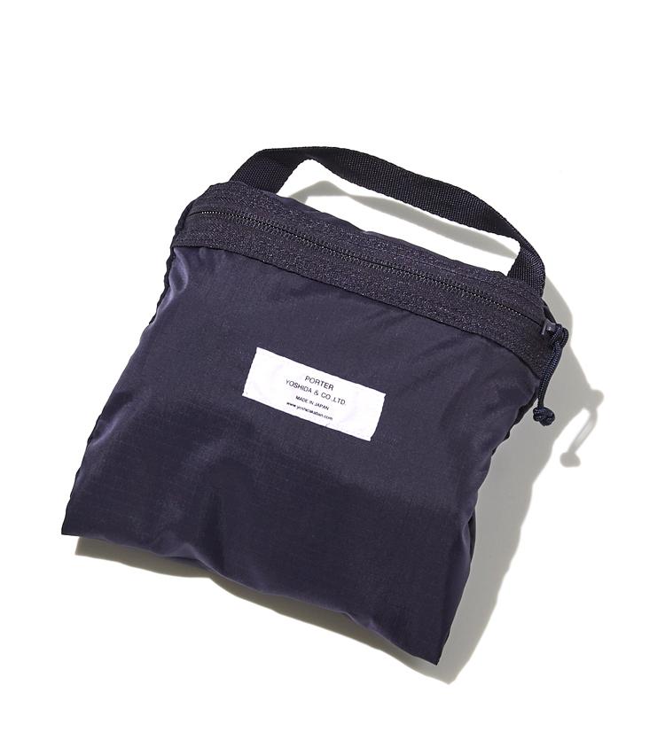 <p><strong> ポーターのお買い物前はこちら</strong><br /> 内装のポケットと一体となった中袋に折り畳むことで、19㎝角にまでコンパクトに。</p>