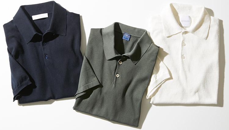 「大人のニットポロ」1枚でもジャケットにも似合う11着を選びました