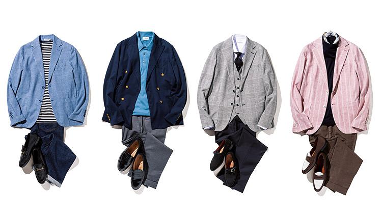 週末&ビズカジ両用ジャージージャケット!「チルコロ 1901」着こなし実例集