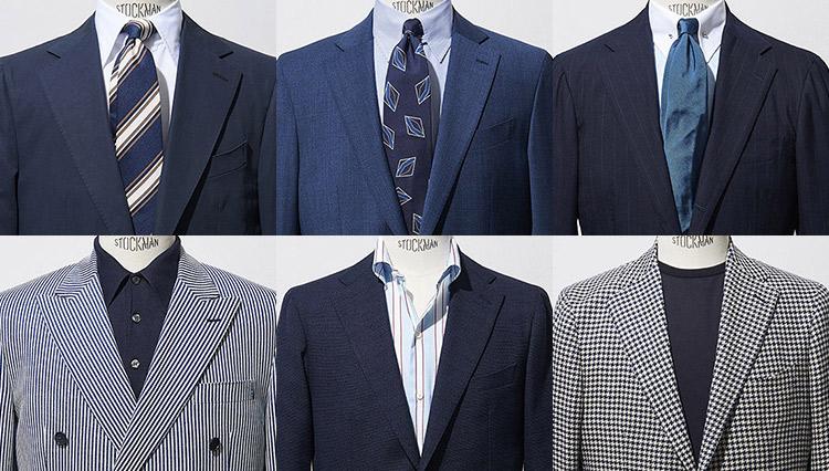 手持ちのスーツで即実践!「紺・青・白で涼しい胸元」実例8