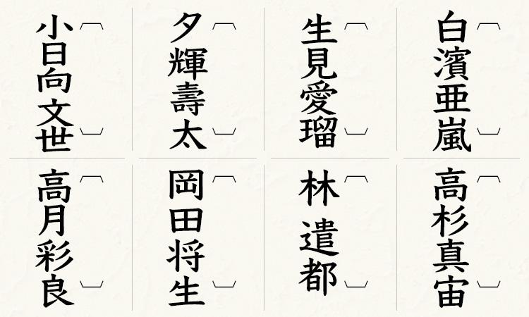 白濱亜嵐、高杉真宙、 生見愛瑠 、 林 遣都 、夕輝壽太 、 岡田将生、 小日向 文世、高月彩良
