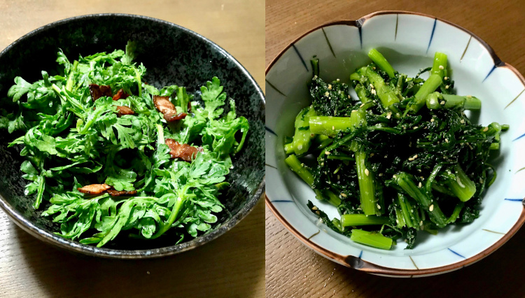 夕飯メニューに困ったら、超簡単に作れる2品「春菊のサラダとナムル」