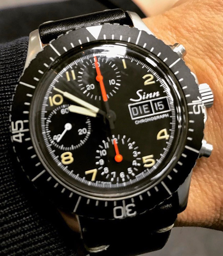 <p><strong>ビームス クリエイティブディレクター 中村達也さんの愛用時計<br /> Brand…ジン Model…SINN 256 ミリタリークロノ</strong></p>