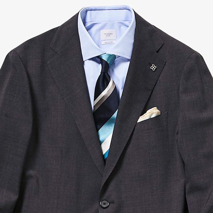 お気に入りのネクタイを主役にしたい時、どうする?【1分で出来る胸元お洒落】