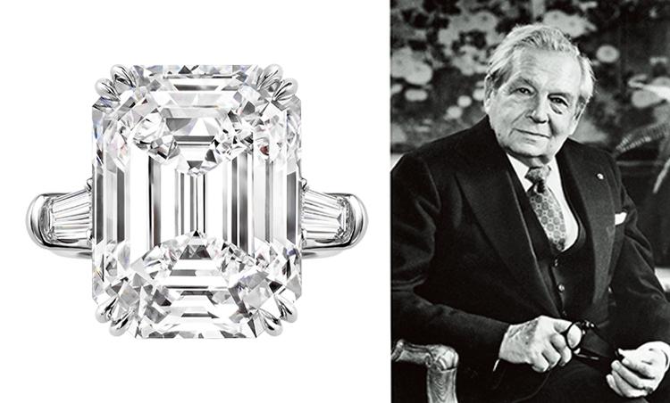 <p><strong>エメラルドカット<br /> 創始者ハリー・ウィンストンが愛したダイヤのフォルム</strong><br /> 長方形の四隅を切り落とした八角形のエメラルドカットは、ダイヤに澄み切った輝きを与える。創始者はこのカットを愛し、ロゴにも採用した。</p>