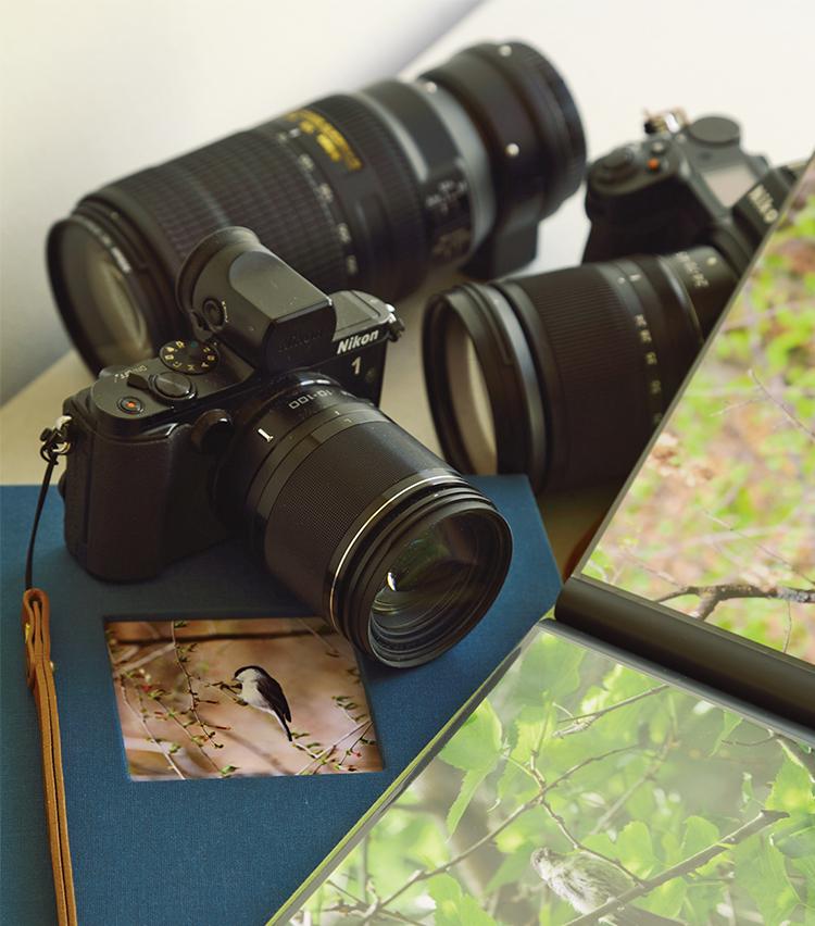<p>バードウォッチングは軽井沢ライフの楽しみのひとつ。長年愛用のカメラで散策中や別荘のテラスから鳥や花を撮影。</p>