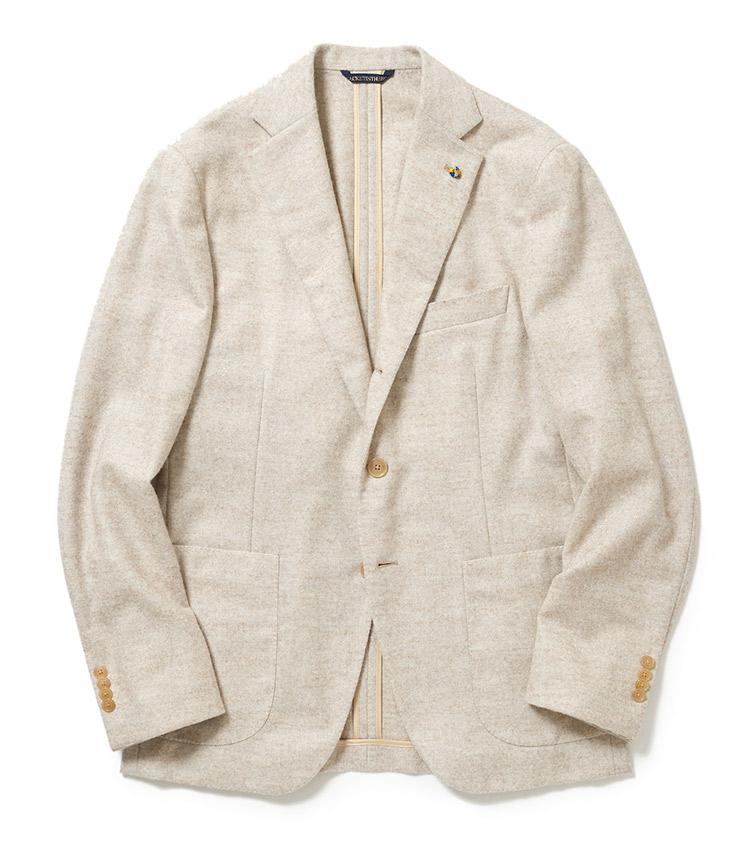 <p><strong>■BELVEST</strong><br /> 圧倒的な軽さを実現したジャケットインザボックス。正統に進化し続けて今でもその着心地の良さは他ブランドに比べ圧倒的に優れている。「アルパカを贅沢に使用したソフトなタッチとトレンドのナチュラルカラーがマッチした一着は、攻め過ぎず守り過ぎず、大人が着て美しく見える絶妙な塩梅です」。<br /> 27万7000円(バーニーズ ニューヨーク)</p>