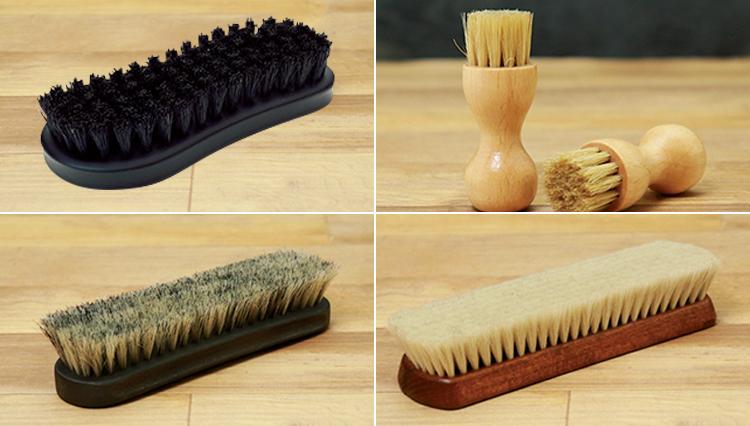 靴磨きの「ブラシ」の種類と用途、把握している?