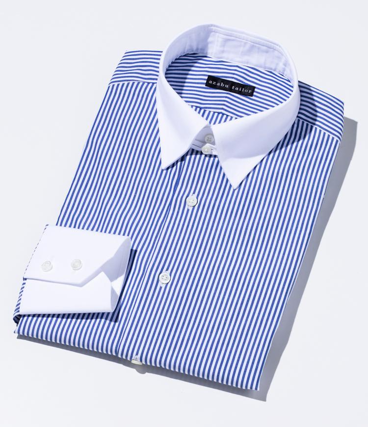 麻布テーラーオーダーシャツ