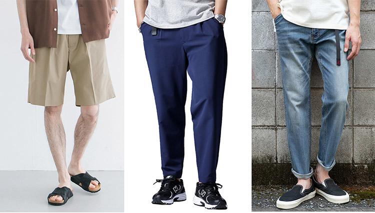 猛暑の休日パンツ。リラックスして履けるものが売れています
