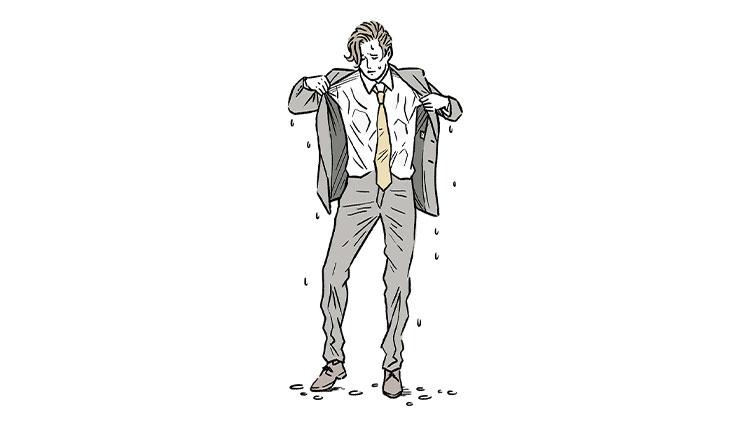 雨濡れで服がよれるのを避けるには?