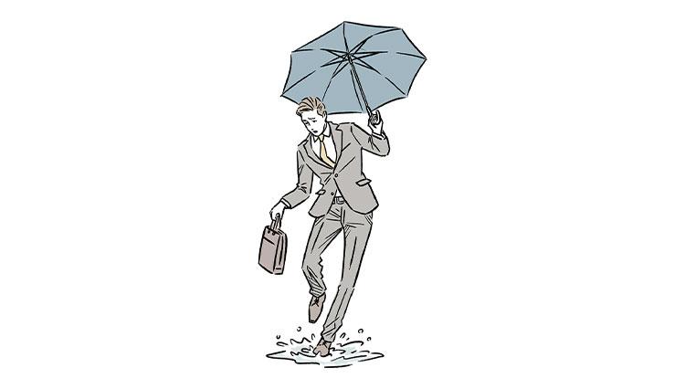 仕事で外回りの日、靴を雨で濡らしたくないときは?