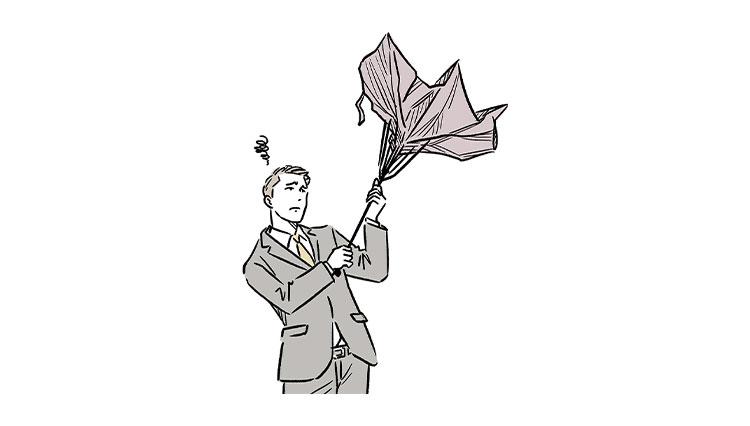 きちんとした装いに相応しい傘とは?