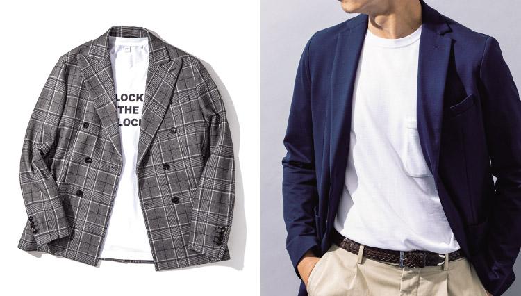 Tシャツ×ジャケットの装いテクニック集