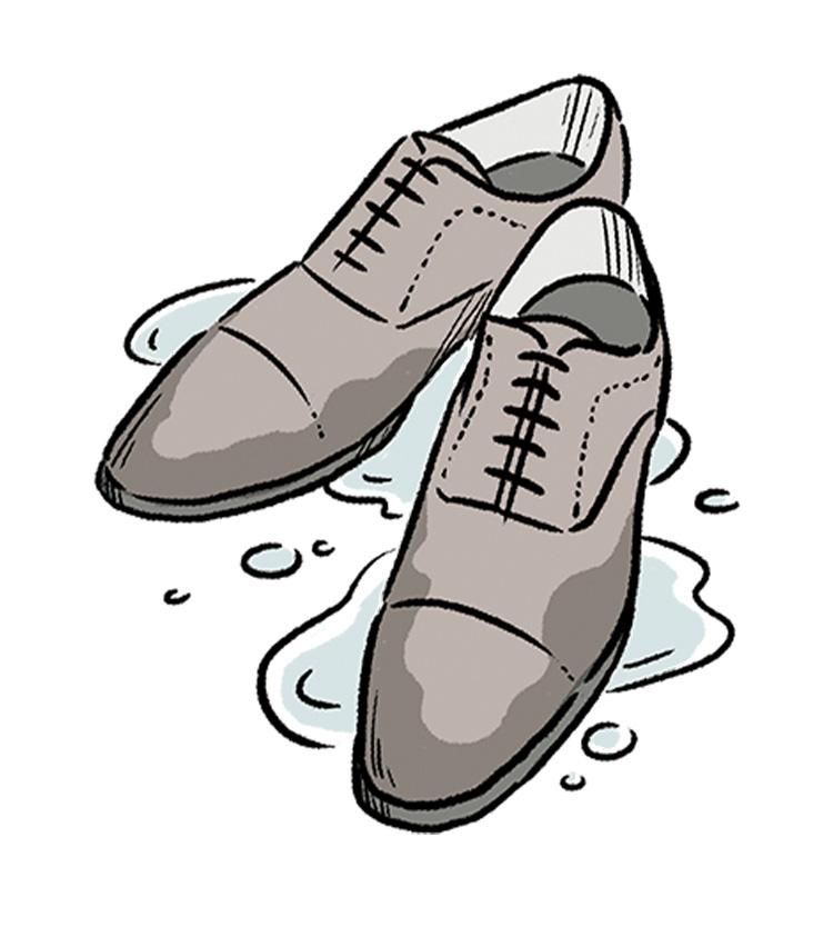 もし大事な靴が雨で濡れてしまったら