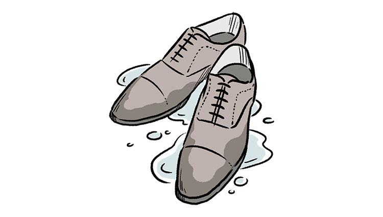もし大事な靴が雨で濡れてしまったら?