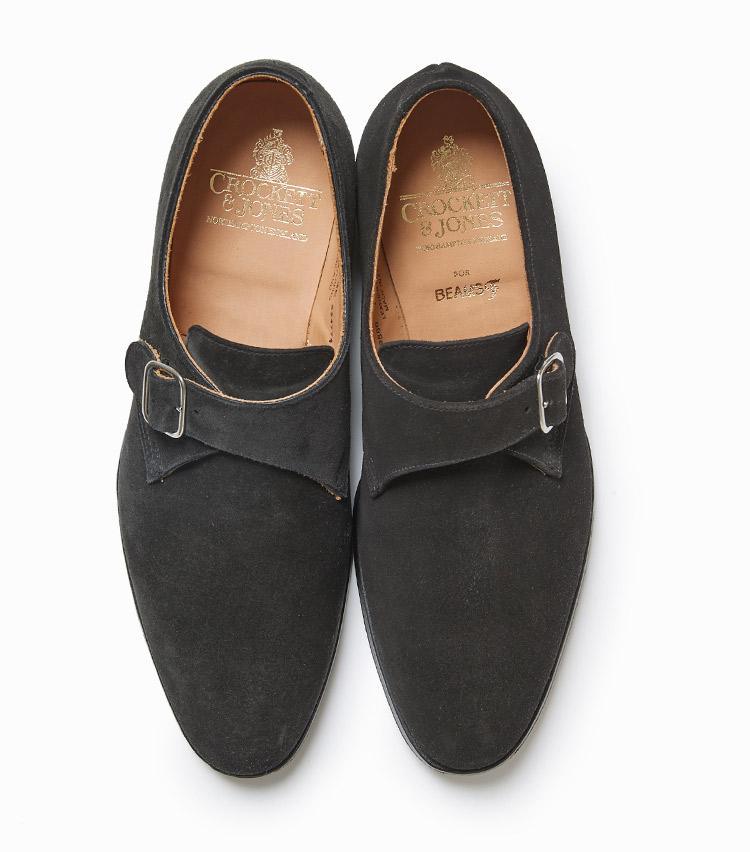 <p><strong>17.クロケット&ジョーンズのモンクストラップシューズ</strong><br /> 英国本格靴の定番モデル「マルバーン」は、丸みを帯びたエレガントなエッグトウとシャープなシルエットが特徴。優れたフィット感とソールの返りの良さも根強い人気。7万9000円(ビームス 六本木ヒルズ)</p>