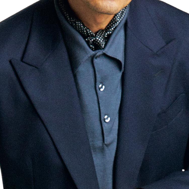 ジャケット×ポロシャツのマンネリ回避テクとは?【1分で出来る胸元お洒落】