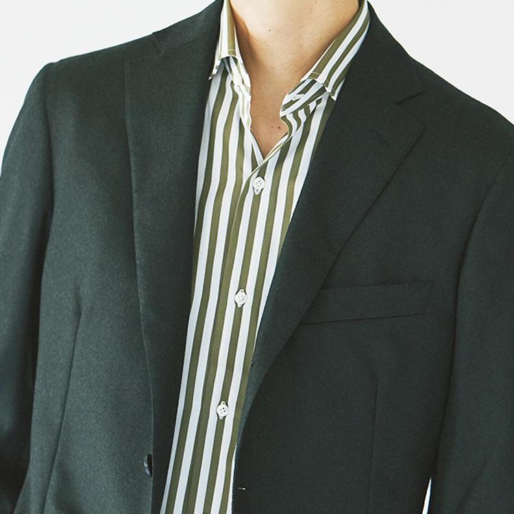 「ノータイの装い」でのシャツの選び方【1分で出来る胸元お洒落】