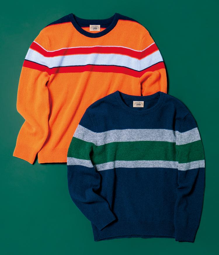 フェアファクスコレクティブの「レジメンタルセーター」