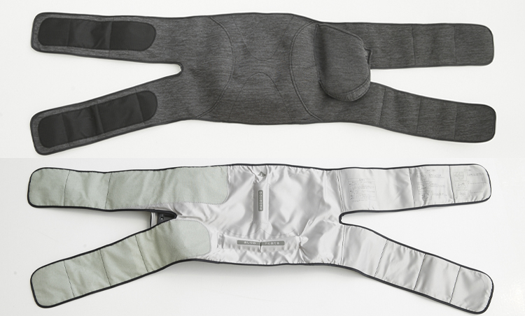 <p>内蔵する14個のエアーバッグがまるで人の手のように梨状筋・中臀筋・大臀筋といった骨盤周りの筋肉を立体的に揉みほぐしてくれる。</p>
