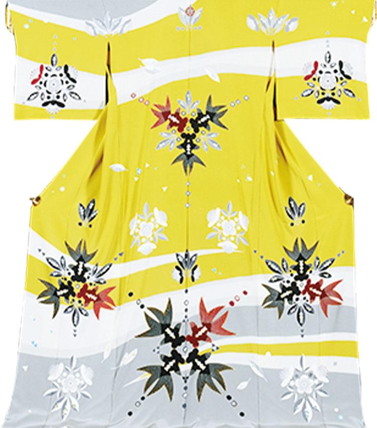 流水紋の着物