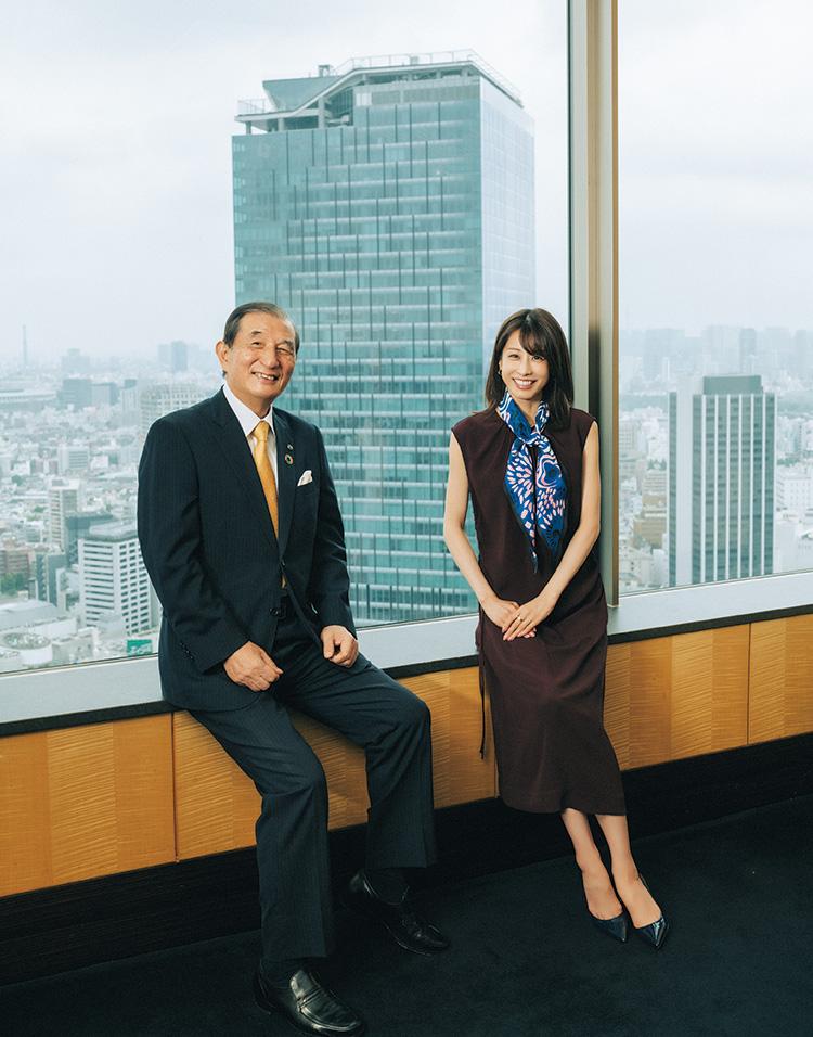 加藤綾子さん、野本弘文さん