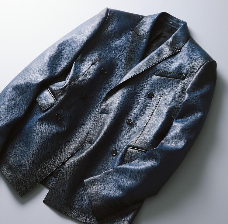 ベルルッティのレザーダブルジャケット