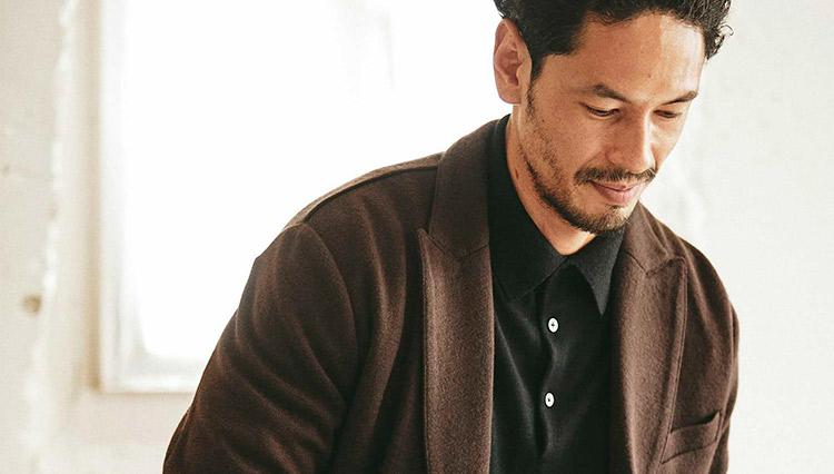 在宅勤務の火曜日。心地よいニットジャケットが重宝!