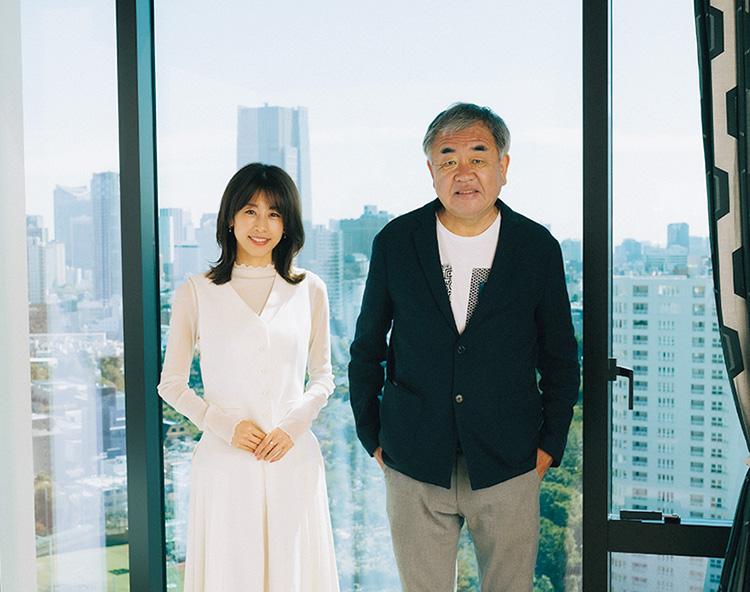 加藤綾子さん、隈 研吾さん