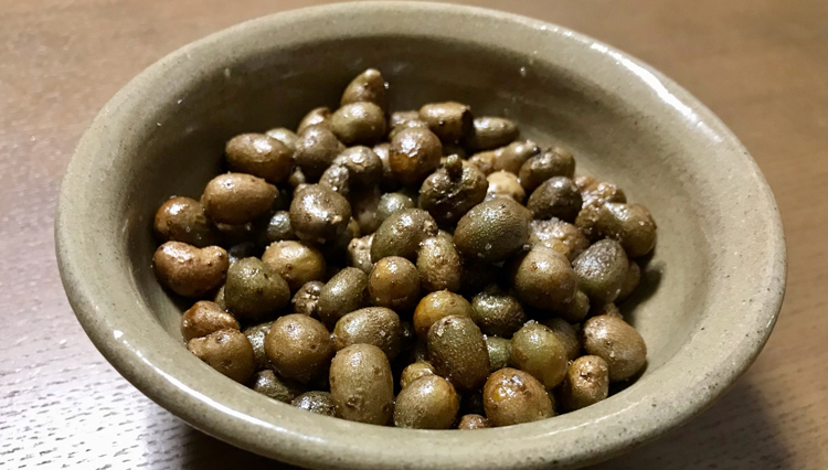 5分で完成、日本酒に合う一口おつまみ「むかごのオリーブオイル炒め」