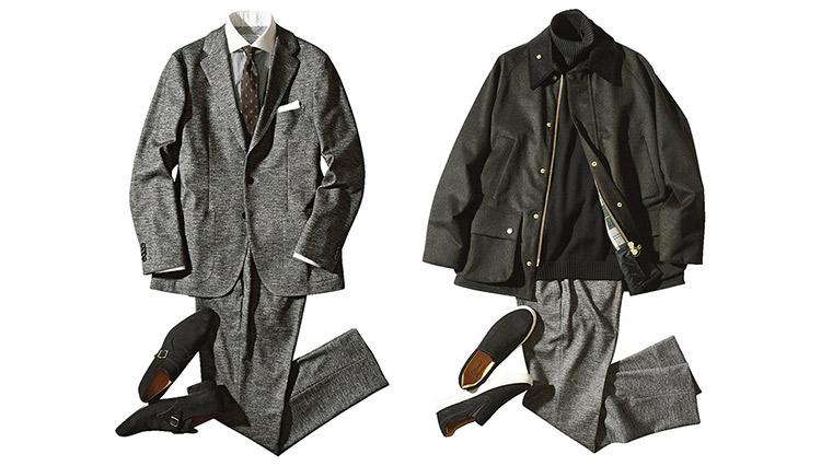 セレクトショップの「定番スーツ」でオンオフ実例コーデ。そのコツは?