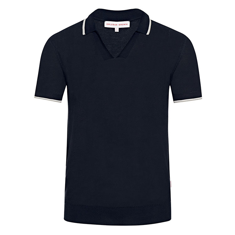<p>コットンとシルクで編み込まれたポロシャツ。</p>