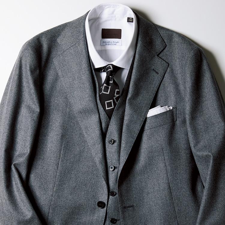 スリーピーススーツと好相性なネクタイは?【1分で出来る胸元お洒落】