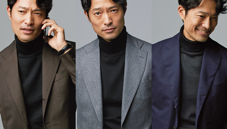 「黒タートル」さえあれば定番スーツからジャケットまで品よくまとまるという事実